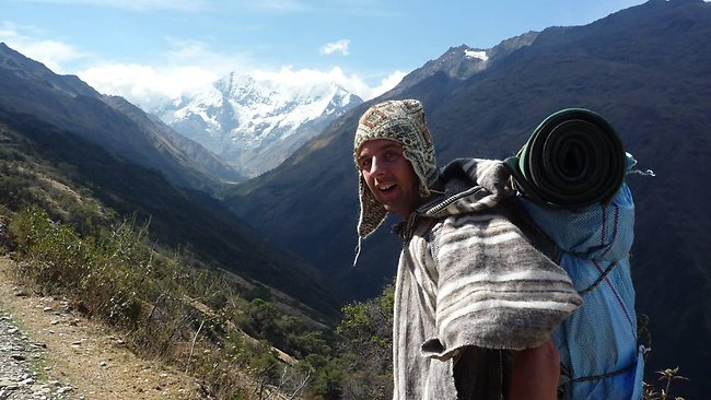 One of the hardest jobs for Mr Wigge was being a porter at Machu Picchu. Picture: Michael Wigge