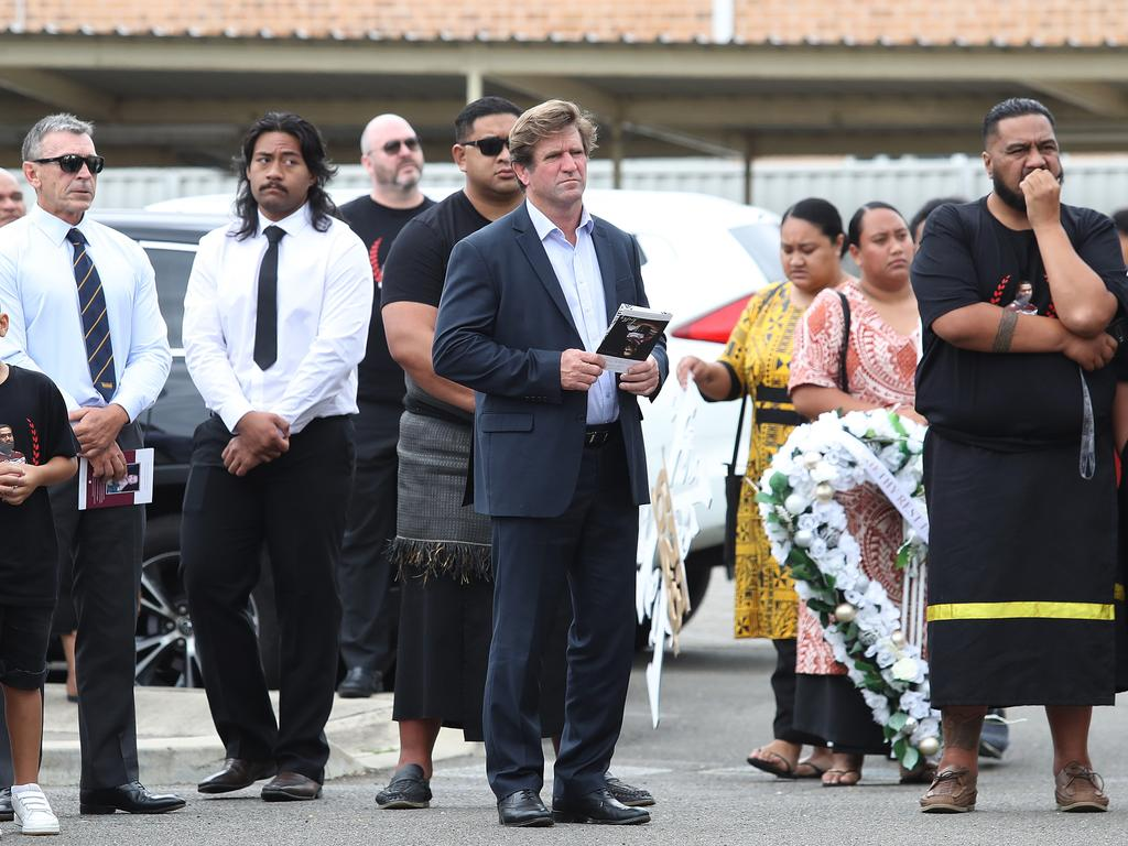 Des Hasler was among the mourners.