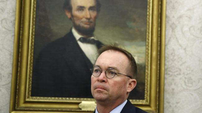 Democrats want President Trump's Acting chief of staff Mick Mulvaney to testify. Picture: AP