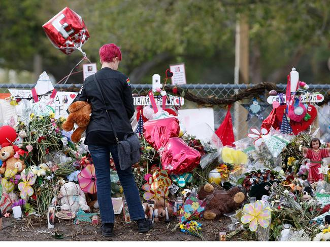 Former student, Nikolas Cruz, opened fire at Marjory Stoneman Douglas High School leaving 17 people dead and 15 injured on February 14. Picture: AFP/Rhona Wise
