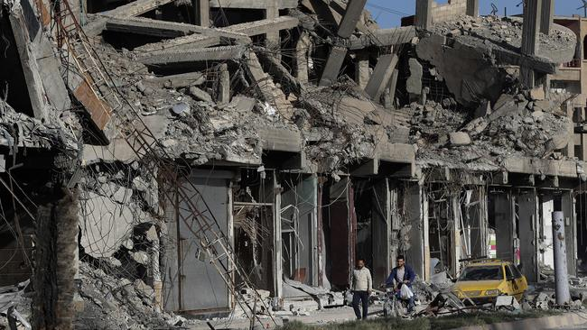 Around 80 per cent of Raqqa was destroyed in the fighting. Picture: Hussein Malla/AP