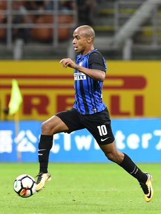Inter Milan's Portuguese midfielder Joao Mario.