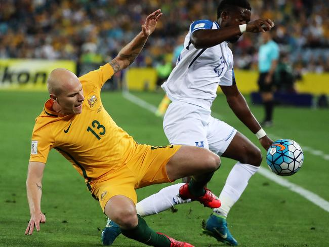 Aaron Mooy was in the thick of it early.