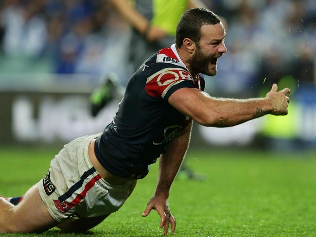 Boyd Cordner scores a try.