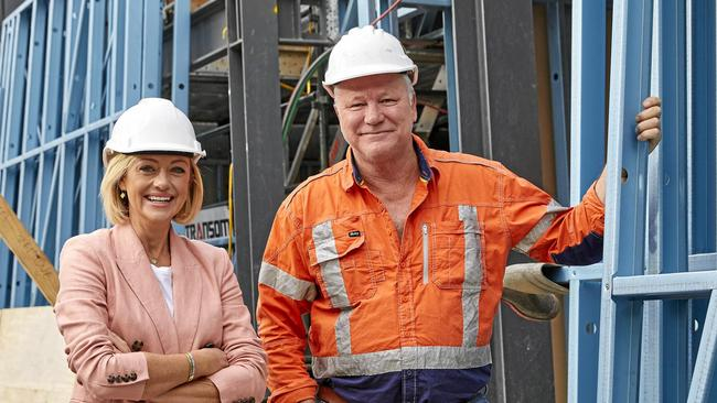 The Block host Scott Cam — pictured with co-host Shelley Craft — is the first to hold the position. Picture: Channel 9