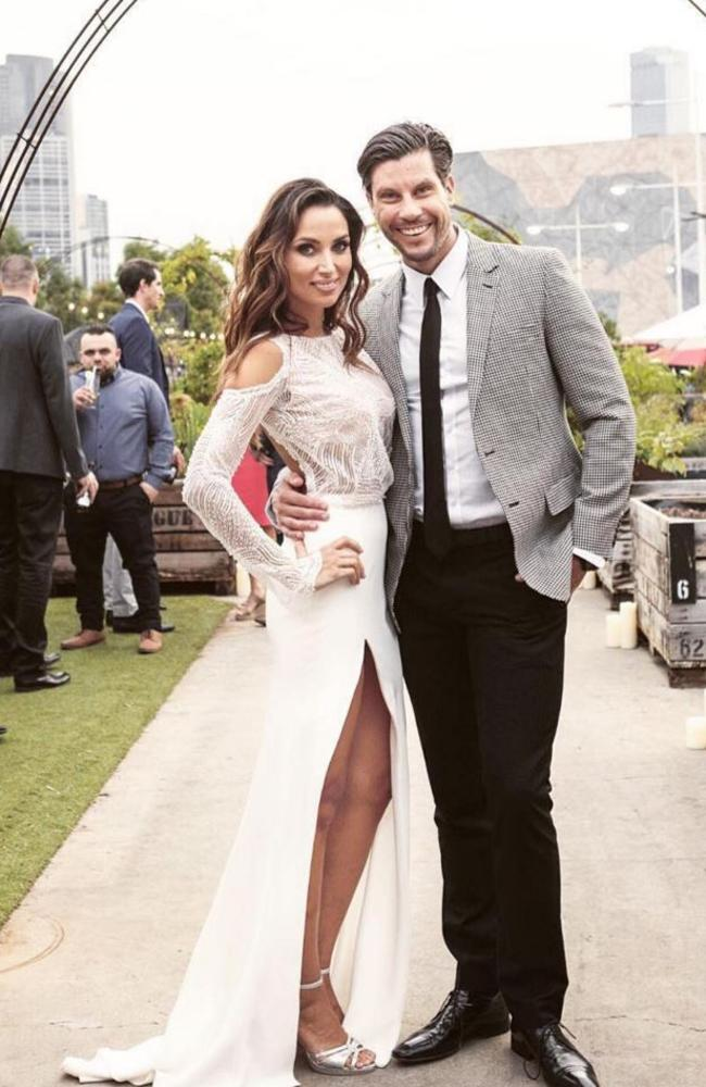 Snezana Markoski and Sam Wood pictured during their engagement party.