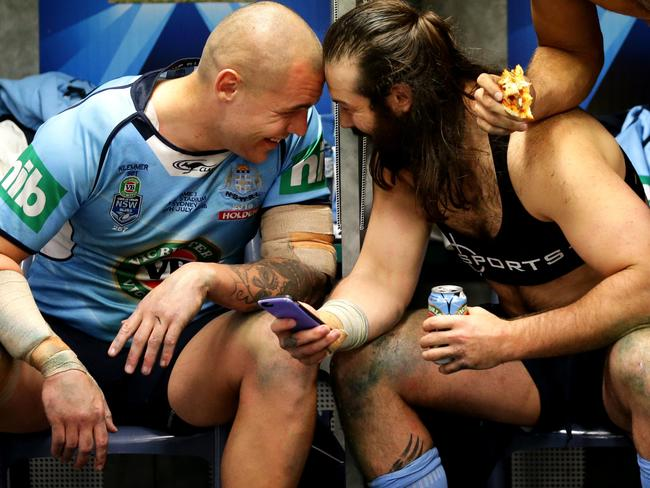 David Klemmer and Aaron Woods are almost too close.