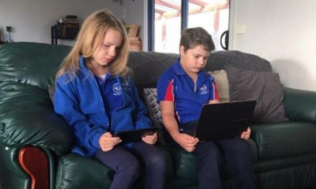 Kylie didn't realise what her kids were really seeing online. Source: Supplied