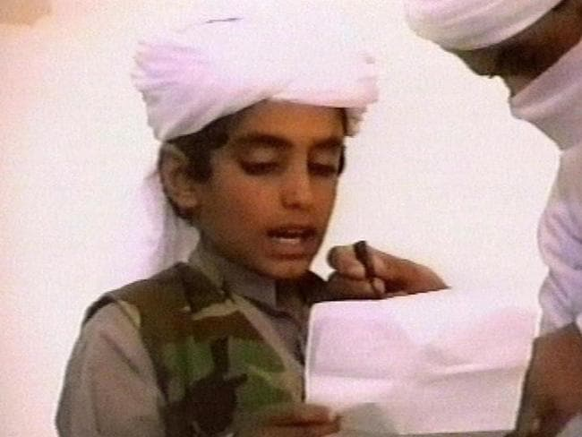 Hamza bin Laden appeared in a lot of propaganda videos when he was young. Picture: AP