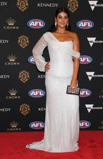 Caitlin Miller arrives ahead of the 2019 Brownlow Medal at Crown Palladium on September 23, 2019 in Melbourne, Australia. Picture: Quinn Rooney/Getty Images