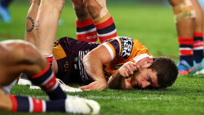 Andrew McCullough failed to return after Dylan Napa's hit. Picture: Getty Images