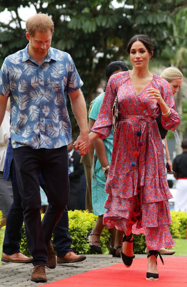The Duke and Duchess of Sussex have arrived at the University of the South Pacific in Suva, Fiji.