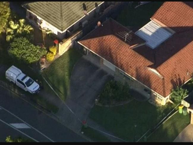 The house where the girl was found dead. Picture: 9News