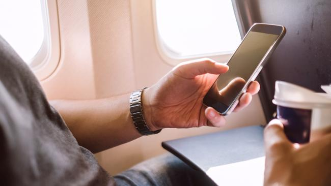 The dodgy Wi-Fi hot-spot name spooked the flight crew.