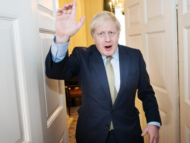 Prime Minister Boris Johnson arrives back at 10 Downing Street after visiting Buckingham Palace where he was given permission to form the next government during an audience with Queen Elizabeth II. Picture: Stefan Rousseau – WPA Pool/Getty Images.