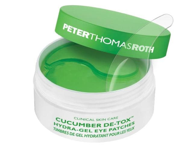 The Peter Thomas Roth Cucumber De-Tox Hydra Gel Eye Patches.