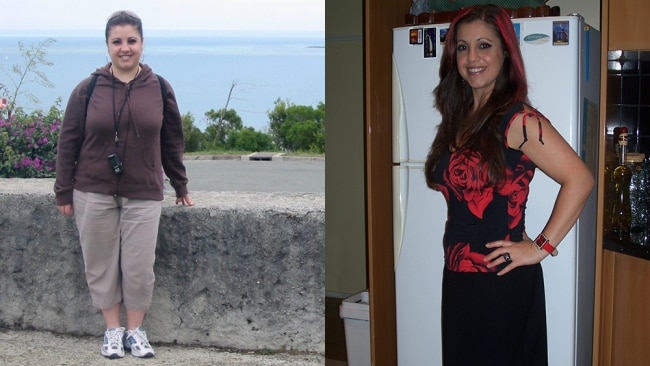 Photo: Carolyn before and after she lose weight. / supplied
