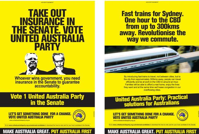 Clive Palmer hits out at Bill Shorten and Scott Morrison in his latest ad.