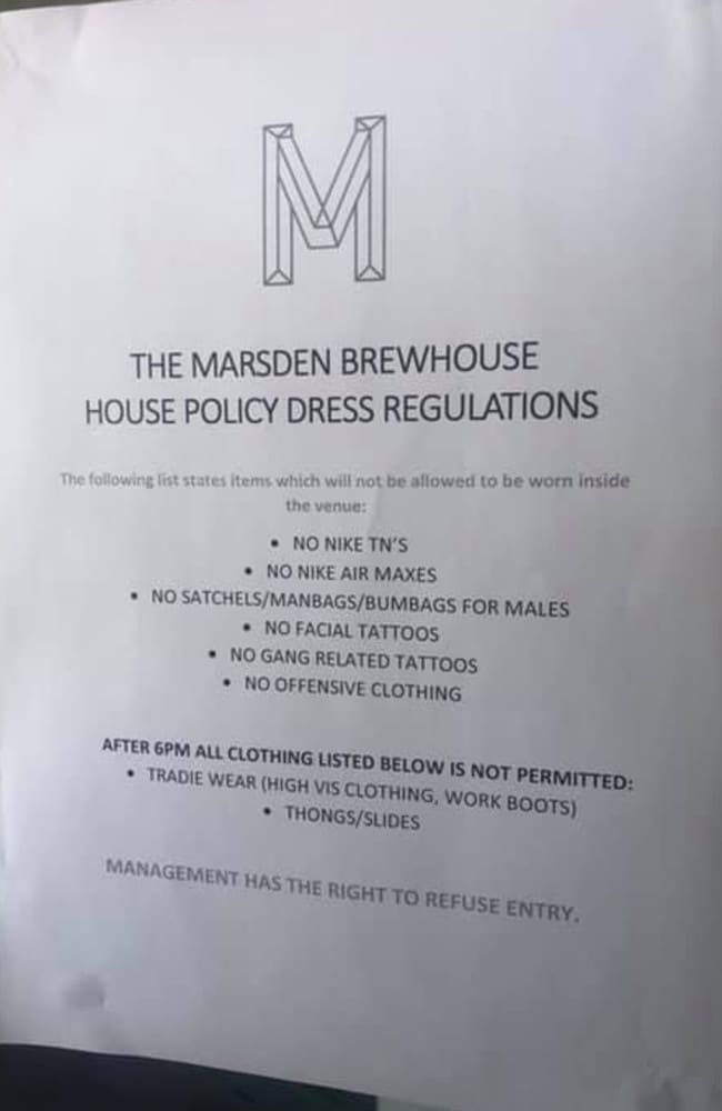 reputable site e7b17 02638 The sign which was outside the Marsden Brewhouse outlined what the  regulations were. Picture  Facebook