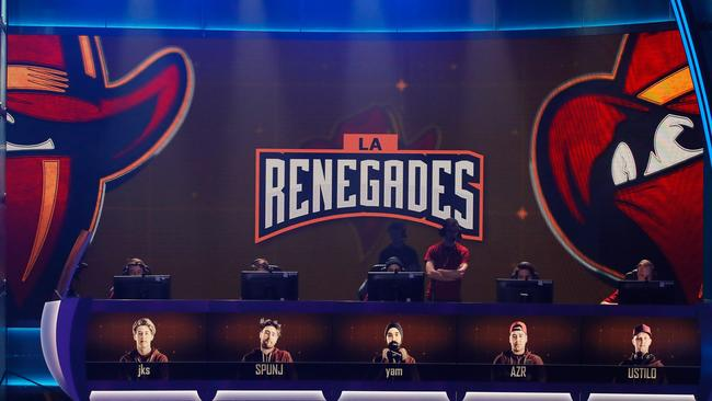 The Renegades CS:GO team competes in ELEAGUE earlier this year. (Photo by Kevin C. Cox/Getty Images)