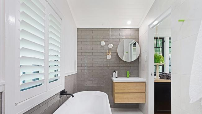 The bathroom after renovation. Picture: Foxtel