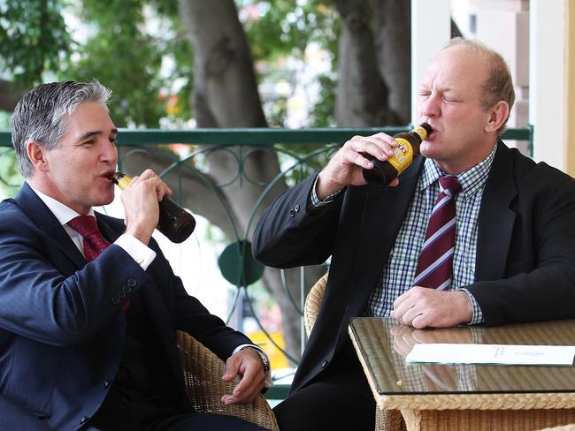 Katter's Australia Party MPs Robbie Katter and Shane Knuth are holding the Queensland state budget hostage. Photo: Claudia Baxter