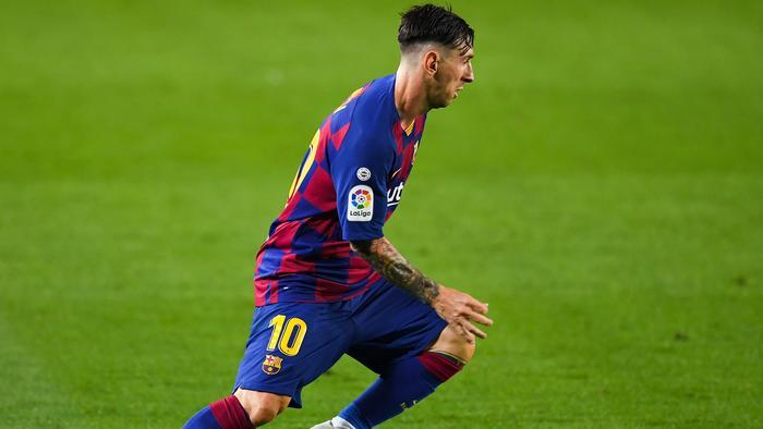 Lionel Messi Haircut 700th Game Fc Barcelona Atletico Madrid La Liga Fox Sports