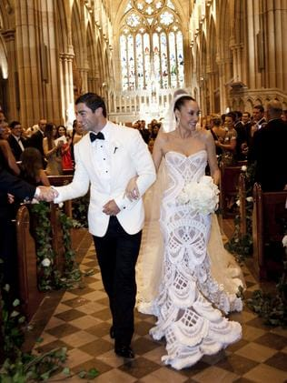Terry Biviano\'s wedding dress a look of love as part of Australian ...