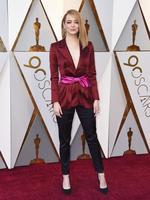 Emma Stone in Louis Vuitton. Photo: AP
