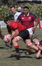 GPS Rugby: Gregory Terrace v Brisbane State High Charles Condon makes a break for Terrace Saturday 10th August 2019. (AAP Image - Richard Waugh)