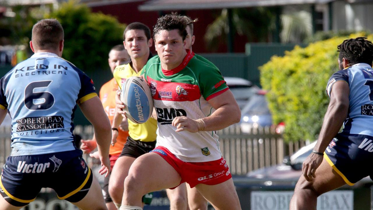 Broncos star James Roberts, playing for Wynnum-Manly Seagulls, in the Queensland Cup, Nundah, on Sunday May 26th, 2019 (Image AAP/Steve Pohlner)