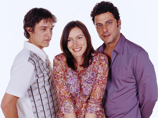 Johnson with Claudia Karvan and Vince Colosimo in the iconic Australian TV show The Secret Life Of Us.