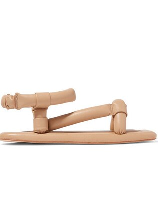 No matter which was you turn it, the vegan leather sandal still looks confusing. Picture: Net-A-Porter