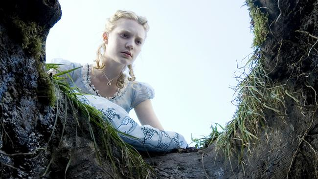Actor Mia Wasikowska in a scene from the 2010 film 'Alice in Wonderland'. Picture: Supplied