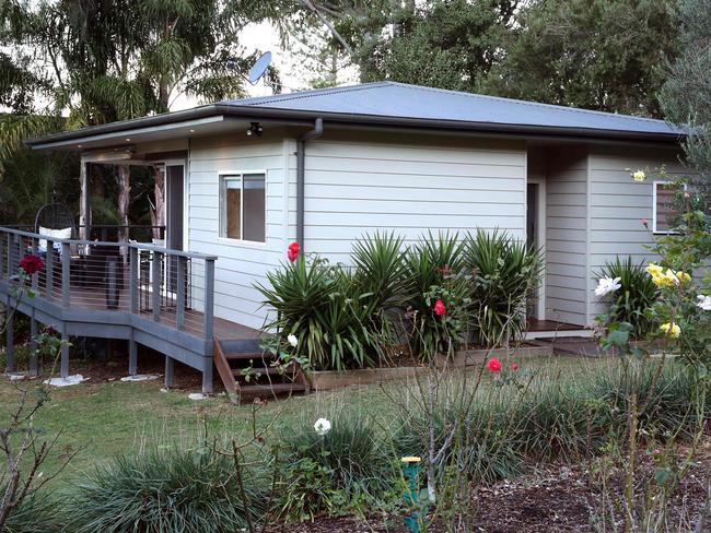 The Smithies granny flat has a 39 square metre deck and a spa bath out the front.