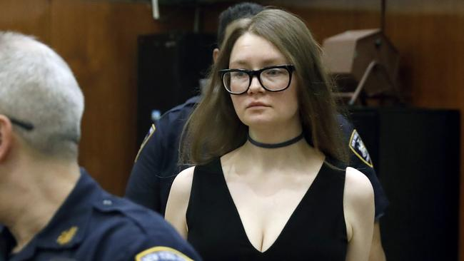 Anna Sorokin arrives in New York State Supreme Court for her trial on grand larceny charges. Picture: Richard Drew/AP