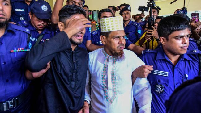 School headmaster Siraj Ud Doula was sentenced to death over the murder. Picture: Munir Uz Zaman/AFP