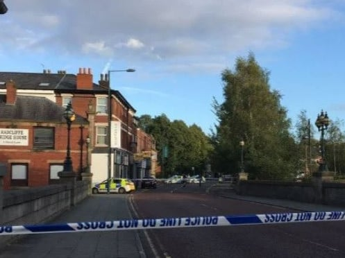 The little boy was thrown into a river from a bridge in Greater Manchester. Picture: Manchester Evening News
