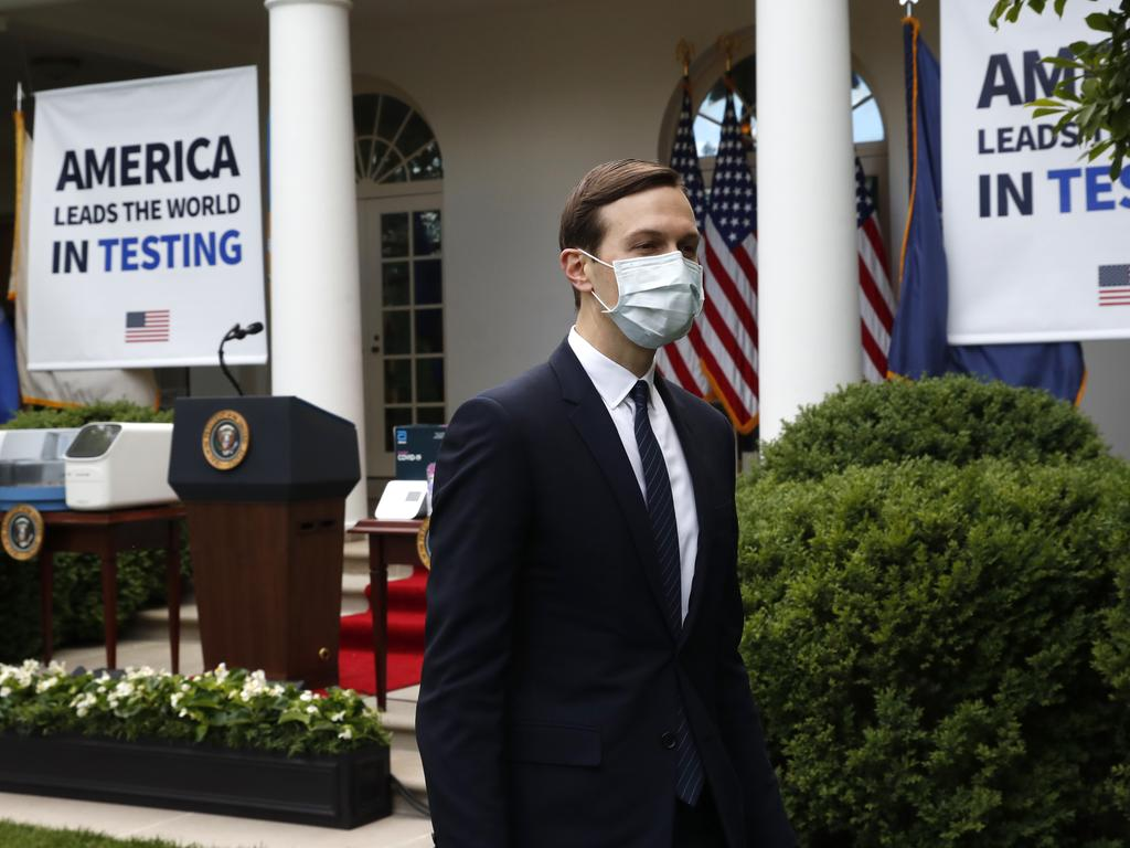 White House adviser Jared Kushner was not exempt from a directive that all White House staff wear masks. Picture: AP