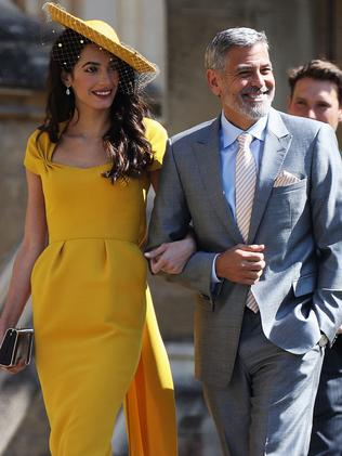 Amal Clooney and George Clooney. Picture: Getty Images