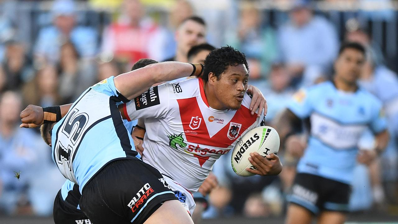 Luciano Leilua has a SuperCoach friendly game and is likely to start at the Wests Tigers. Picture: AAP.