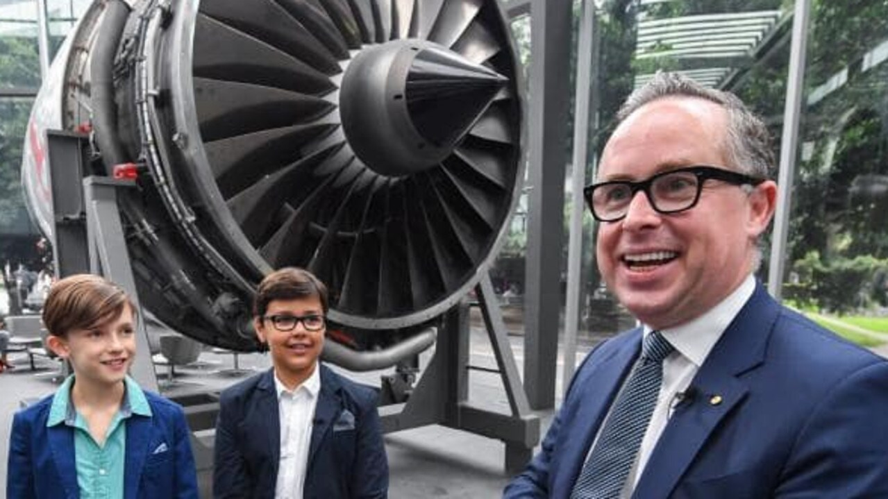 Qantas CEO Alan Joyce with Alex Jacquot and his deputy CEO Wolf Stringer. Picture: Supplied