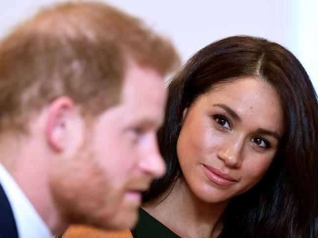 Harry, who has expressed a fear that his wife would meet the same fate as his late mother, will not likely forego having 24/7 security. Picture: Toby Melville/AFP.