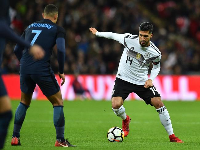 Germany's midfielder Emre Can.