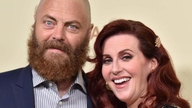 """Nick Offerman and Megan Mullally say their relationship is the """"Greatest Love Story Ever Told"""". Picture: AFP"""