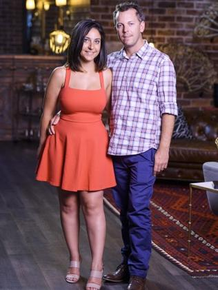 Alene and Simon from Married At First Sight. Photo: Channel 9