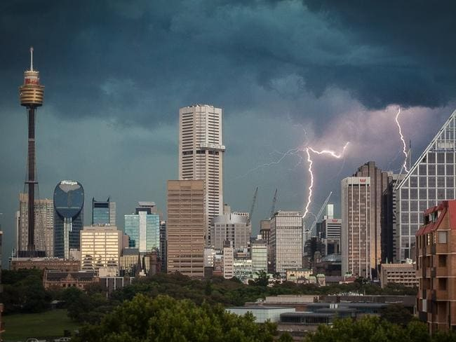 Photo of the storm in Sydney on Sunday. Photo: Cedric Tourasse Photography, www.cedric.photography/