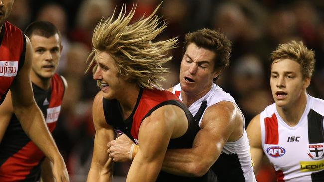 Two Morrish medal winners Lenny Hayes and Dyson Heppell. Picture:Wayne Ludbey