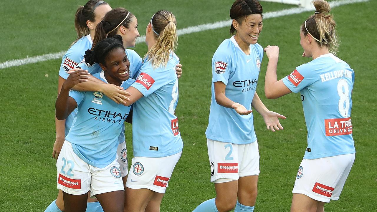 Jasmyne Spencer bagged a hat-trick as Melbourne City beat Sydney FC in the W-League.