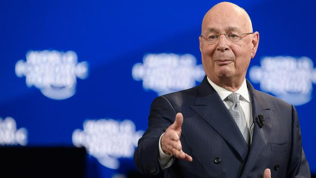 World Economic Forum (WEF) founder and executive chairman Klaus Schwab is the architect of the Great Reset theory. Picture: Fabrice COFFRINI / AFP.